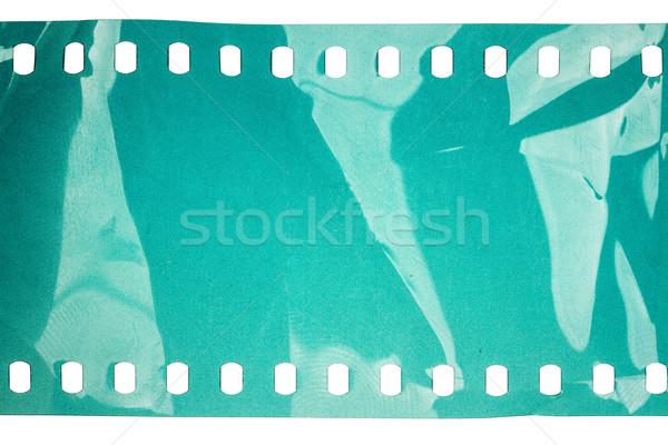 Velho grunge filmstrip barulhento ciano isolado Foto stock © Taigi