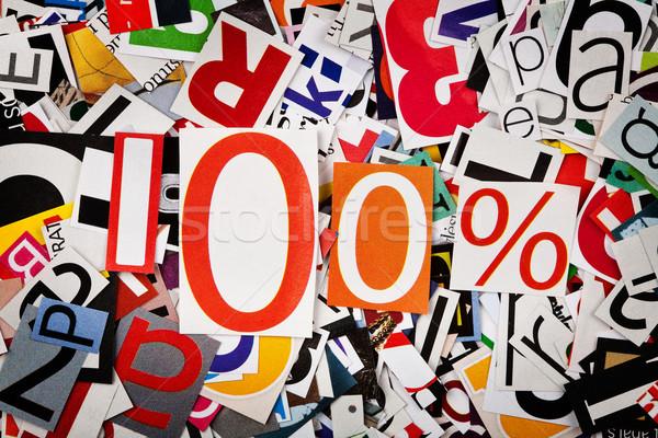 Uno cento cento abstract lettere carta Foto d'archivio © Taigi