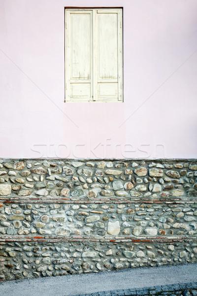 Vecchio muro finestra bianco chiuso Foto d'archivio © Taigi