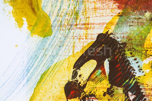 Absztrakt művészet közelkép lövés kéz festett Stock fotó © Taigi