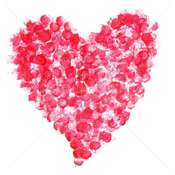 Amor símbolo pintado coração isolado branco Foto stock © Taigi