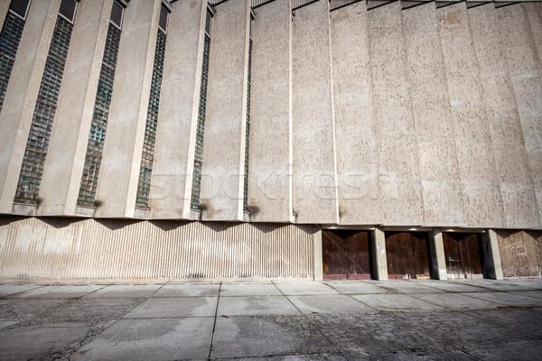 öreg beton fal széles látószögű kilátás építészeti Stock fotó © Taigi