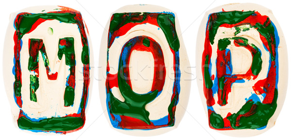 Colorful handmade of white clay letters Stock photo © Taigi