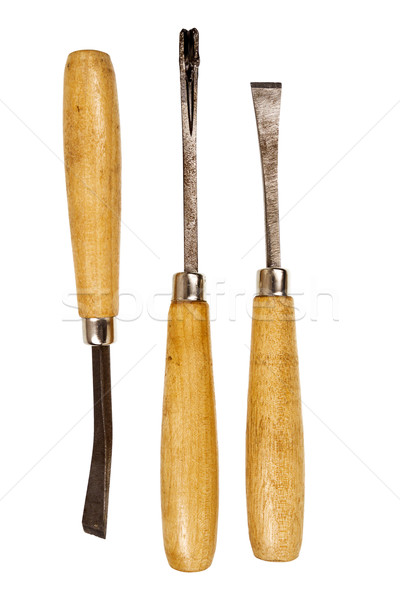 Three used chisels  Stock photo © Taigi
