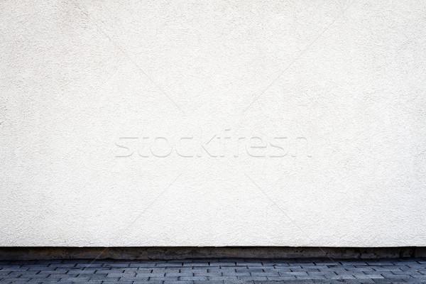 Modern white plaster street wall  Stock photo © Taigi