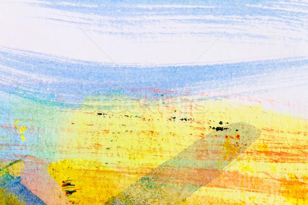 Soyut sanat görmek el boyalı Stok fotoğraf © Taigi