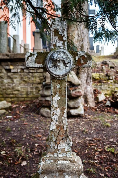 Old Christian cross Stock photo © Taigi