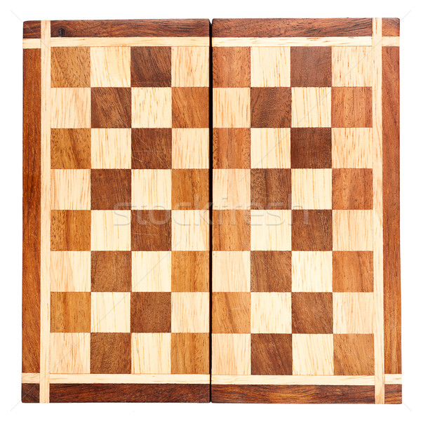 Old wooden chess board  Stock photo © Taigi
