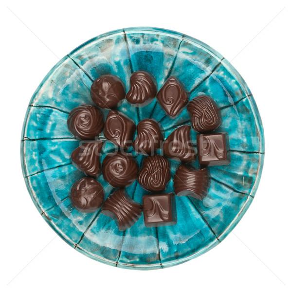 Plate of chocolates Stock photo © Taigi