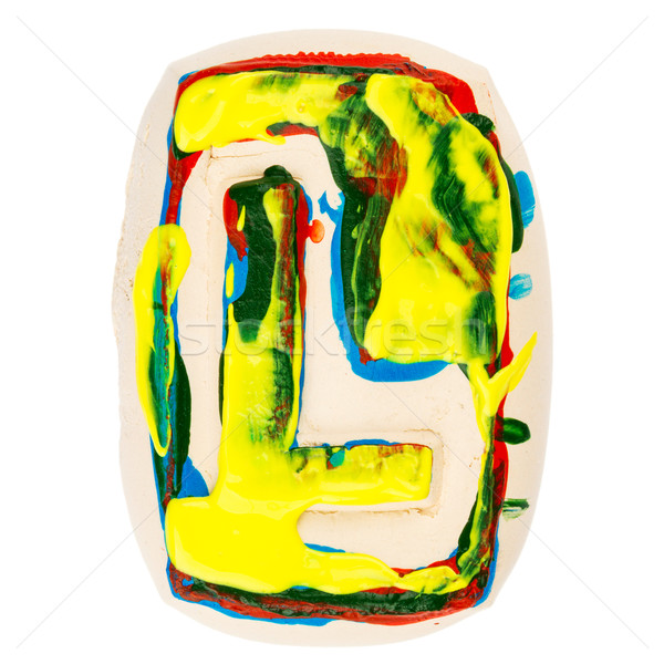 Colorful handmade of white clay letter L  Stock photo © Taigi