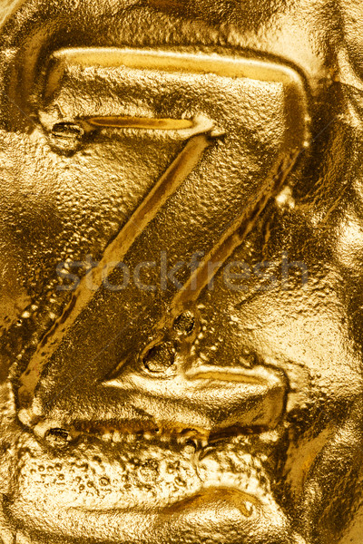 Stock photo: Golden letter Z
