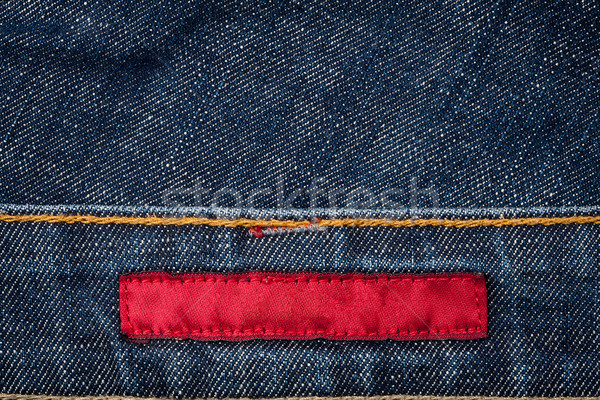 Stock photo: Blank fabric jeans label