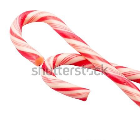 Noël bonbons isolé blanche design hiver Photo stock © Taigi