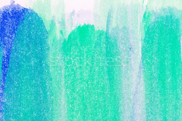 Foto stock: Resumen · artes · macro · tiro · dibujado · a · mano · azul