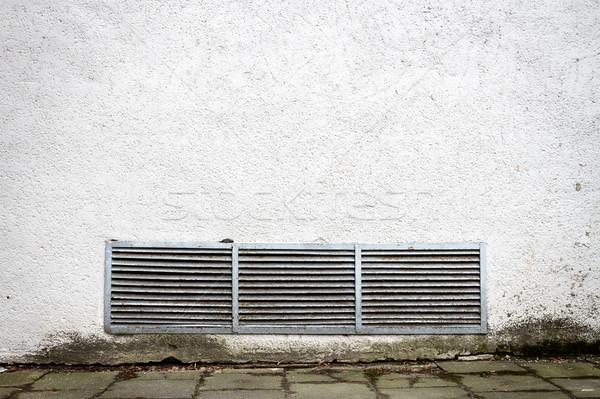 Moderno branco gesso rua parede ventilação Foto stock © Taigi