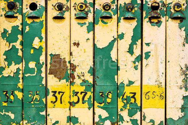 Oude verweerde ijzer shot kleurrijk Stockfoto © Taigi