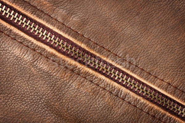 Zipper and leather Stock photo © Taigi