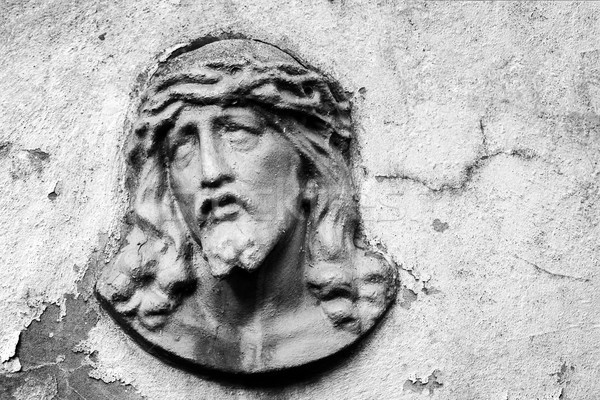Face of Jesus Christ on a tomb Stock photo © Taigi