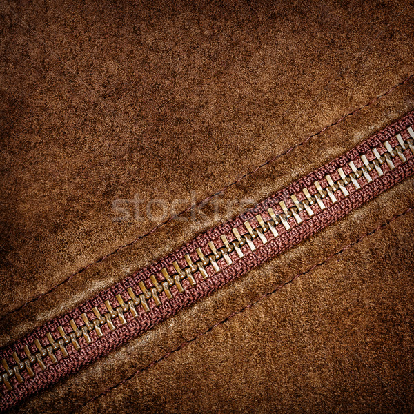 Zipper and suede Stock photo © Taigi