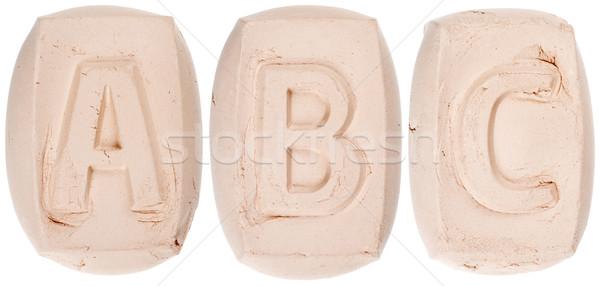 Handmade of white clay letters Stock photo © Taigi