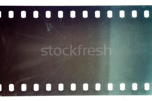 öreg grunge filmszalag kék vibráló zajos Stock fotó © Taigi