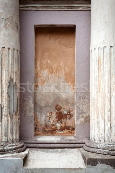 Detail oude cement muur textuur Stockfoto © Taigi