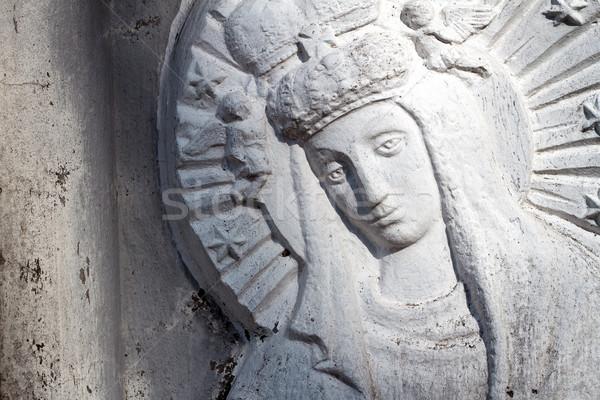 Сток-фото: рельеф · девственница · кладбище · Вильнюс · Литва · небе
