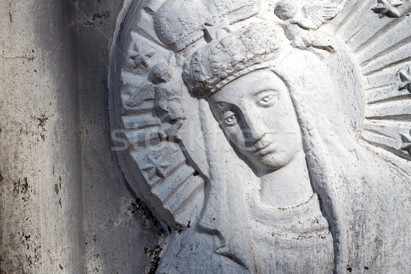 Bas relief of Virgin Mary Stock photo © Taigi