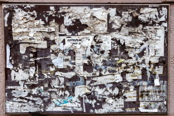 öreg közlöny tábla fal fa absztrakt Stock fotó © Taigi