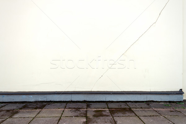 Modern white plaster street wall Stock photo © Taigi