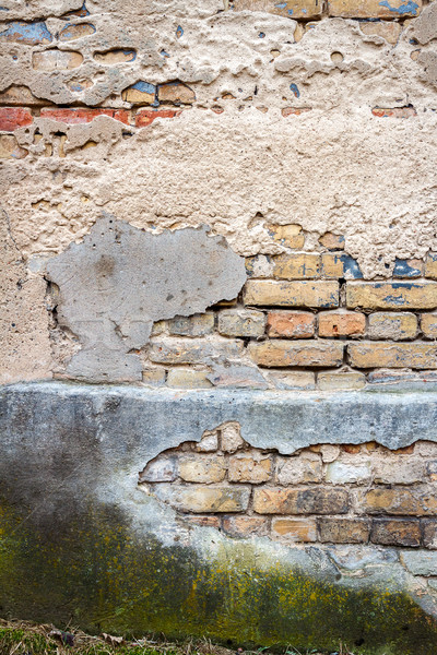 öreg utca fal viharvert föld építészet Stock fotó © Taigi