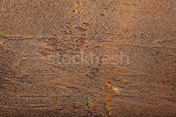 Kahverengi duvar doku sıva boya arka plan Stok fotoğraf © Taigi