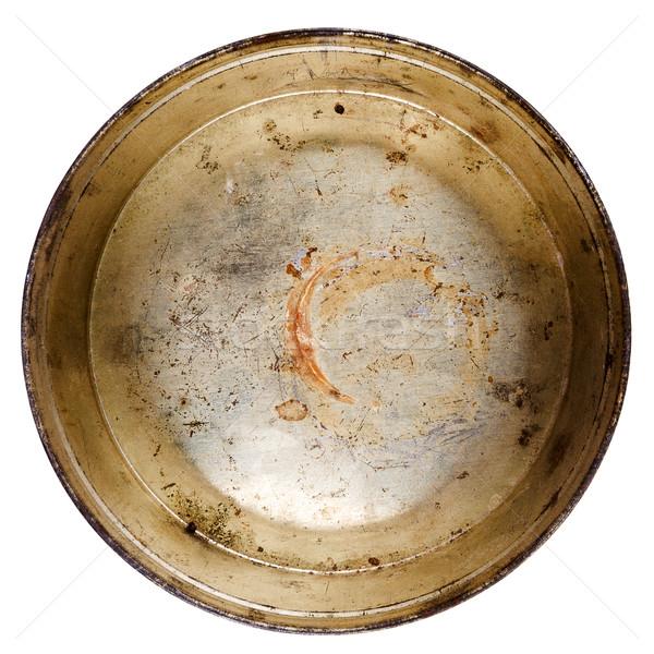 Rusty round metal tin can  Stock photo © Taigi