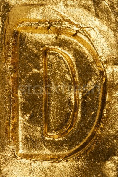 Golden letter D Stock photo © Taigi