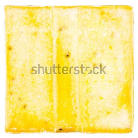 ручной работы керамической плитка желтый изолированный белый Сток-фото © Taigi