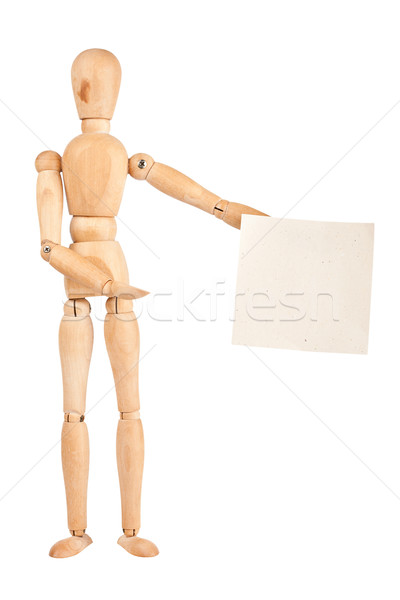 Stockfoto: Houten · papier · handgemaakt · geïsoleerd · witte