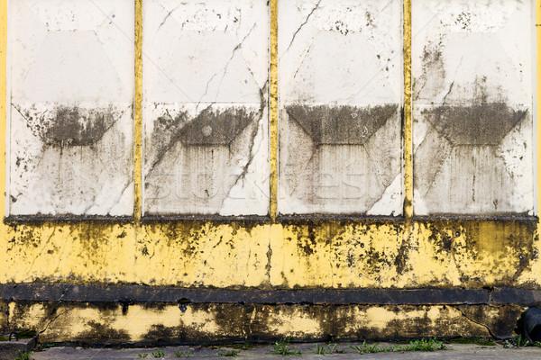 Beton hek verweerde gebarsten textuur Stockfoto © Taigi