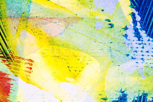 抽象的な 芸術 クローズアップ ショット 手 描いた ストックフォト © Taigi