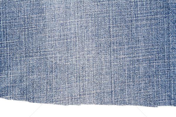 Piece of light blue jeans fabric Stock photo © Taigi
