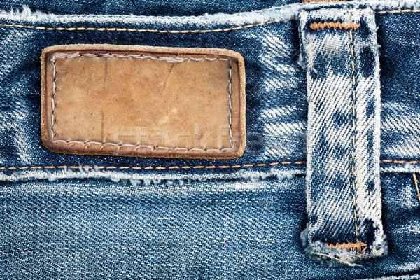 Blank leather jeans label  Stock photo © Taigi
