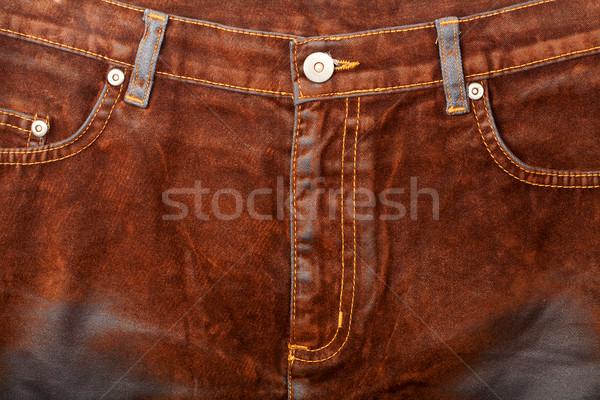 Brown jeans front Stock photo © Taigi