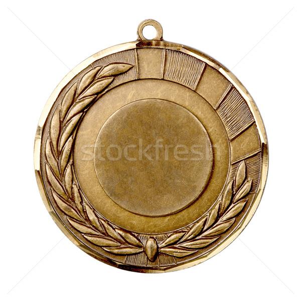 Médaille d'or isolé blanche sport succès événement Photo stock © Taigi
