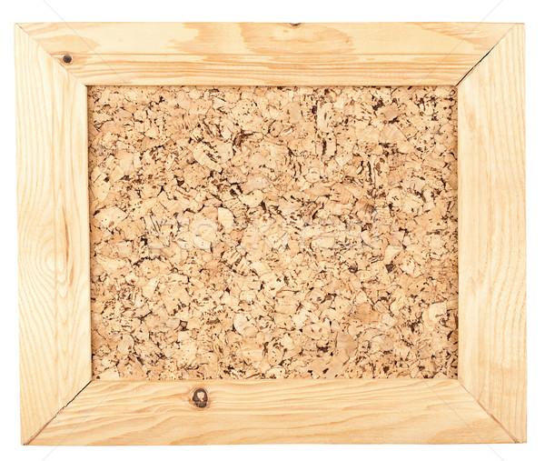 软木板上 帧 木框 孤立 白木 商业照片 taigi