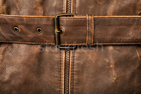 Leder gesp textuur gordel business Stockfoto © Taigi