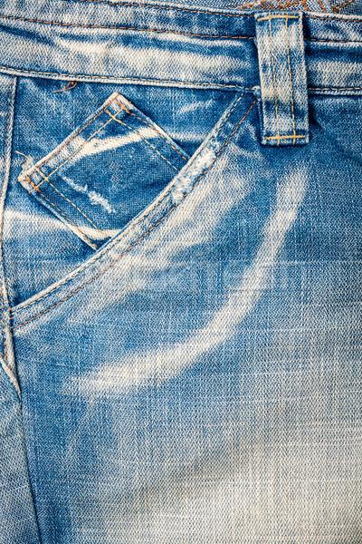 Luz azul jeans tecido bolso moda Foto stock © Taigi