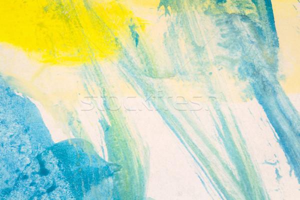 Streszczenie niebieski żółty akwarela Zdjęcia stock © Taigi