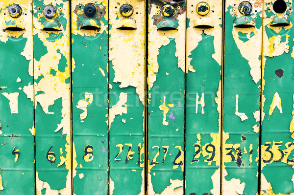 Velho resistiu ferro tiro colorido Foto stock © Taigi