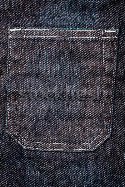 Sötét farmernadrág szövet zseb hát textúra Stock fotó © Taigi