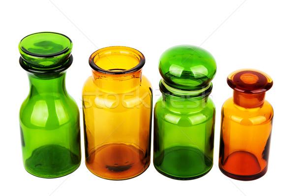 стекла бутылок четыре пусто изолированный белый Сток-фото © Taigi