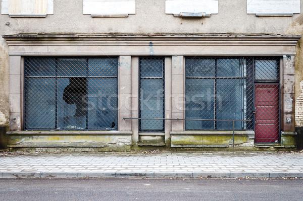 Wejście opuszczony sklep Wilno Litwa architektury Zdjęcia stock © Taigi